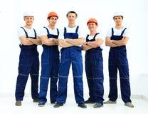 Grupp av yrkesmässigt industriellt Royaltyfria Foton