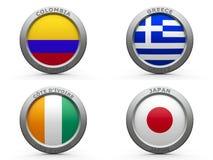 Grupp C för Brasilien världscup 2014 Arkivbilder