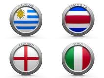 Grupp D för Brasilien världscup 2014 Arkivbild