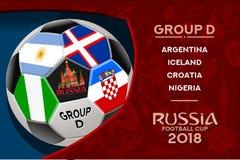 Grupp D för Ryssland världscupdesign vektor illustrationer