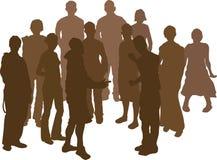 grupp för 12 vänner stock illustrationer