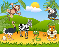 grupp för 2 afrikansk djur vektor illustrationer