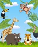 grupp för 3 afrikansk djur stock illustrationer