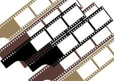 grupp för färgfilmramar royaltyfri illustrationer