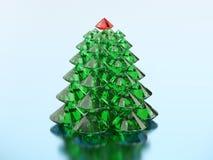 grupp för illustration 3D av det gröna diamantjulträdet med ett rött Arkivbilder