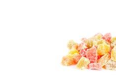 Grupp för kanderad frukt Arkivfoto