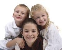 grupp för 2 barn Arkivbild