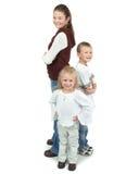 grupp för 4 barn Arkivbilder