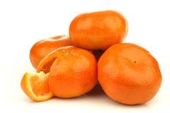 grupp klippta nya tangerines en Arkivfoton