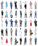 Grupp människor från olika yrken Royaltyfri Fotografi
