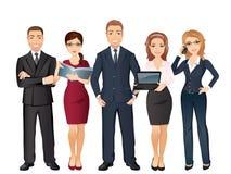 Grupp människor full längd, affärslag, teamwork royaltyfri illustrationer