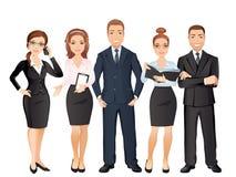 Grupp människor full längd, affärslag, teamwork vektor illustrationer
