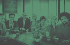Grupp människor gladlynta Team Study Group Diversity Concept Royaltyfri Bild