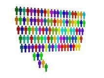 grupp människor i datalistan Fotografering för Bildbyråer