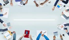 Grupp människor och affärsidéer arkivfoton