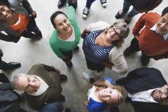 Grupp människor Team Diversity Smiling Concept royaltyfri foto