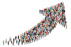 Grupp människorframgångaffären förbättrar lyckad tillväxtstart arkivbild