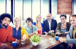 Grupp människor gladlynta Team Study Group Diversity Concept Arkivfoto