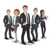 Grupp olika Team Vector Illustration för affärsfolk royaltyfri illustrationer