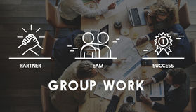 Grupp Team Work Organization Concept royaltyfri foto