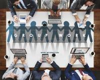 Grupp Team Work Organization Concept royaltyfri fotografi