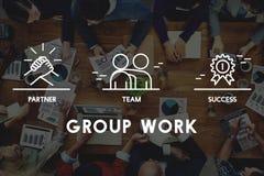 Grupp Team Work Organization Concept royaltyfri illustrationer