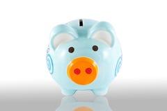 gruppasken isolerade piggy stil för pengar Arkivbilder
