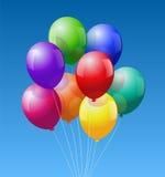 Gruppballonger Arkivfoto