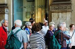 Gruppe ältere tourirsts Stockfotografie