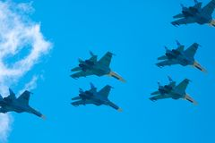 Gruppe aerobatic Stockfotos