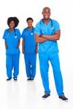 Afrikanische Doktorkrankenschwestern lizenzfreies stockbild