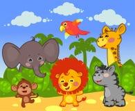Gruppe afrikanische Tiere Lizenzfreies Stockbild