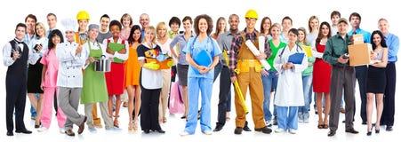 Gruppe Arbeitskraftleute stockfoto