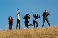 Gruppe asiatische schöne Leute Stockbilder