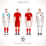 GRUPPE B des EURO-2016 Meisterschaft Stockfotografie