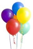 Gruppe Ballons auf Weiß stockfotografie