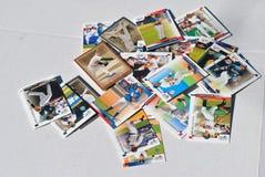 Gruppe Baseballkarten Stockfotografie