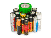 Gruppe Batterien Stockfoto
