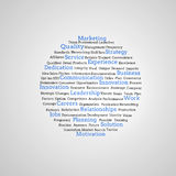 Gruppe blaue Marketingbegriffe Lizenzfreie Stockbilder