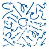 Gruppe blaue Pfeile Lizenzfreies Stockfoto
