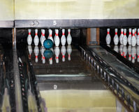 Gruppe Bowlingspiel Skittles. Lizenzfreie Stockfotos