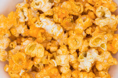 Gruppe Cheddar-Käse-Popcornbeschaffenheit Lizenzfreie Stockfotografie