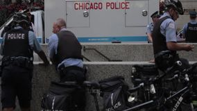 Gruppe Chicago-Polizei stock video footage