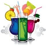 Gruppe Cocktails Stockfotos