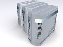 Gruppe Computerkontrolltürme Stockbild