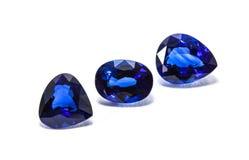 Gruppe der blauen Saphire Stockbilder