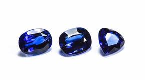 Gruppe der blauen Saphire Stockfotografie