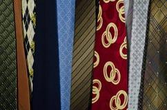 Gruppe der bunten Krawatte Lizenzfreies Stockfoto