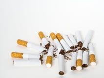 Gruppe der defekten Zigarette Stockfoto