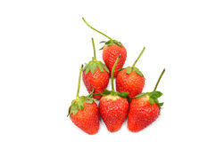 Gruppe der Erdbeere stockfotos